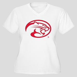 Houston Cougar Ma Women's Plus Size V-Neck T-Shirt