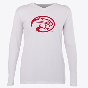 Houston Cougar Mascot Lo Plus Size Long Sleeve Tee