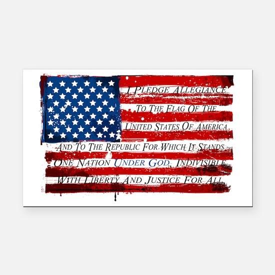 Patriotic Pledge of Allegianc Rectangle Car Magnet