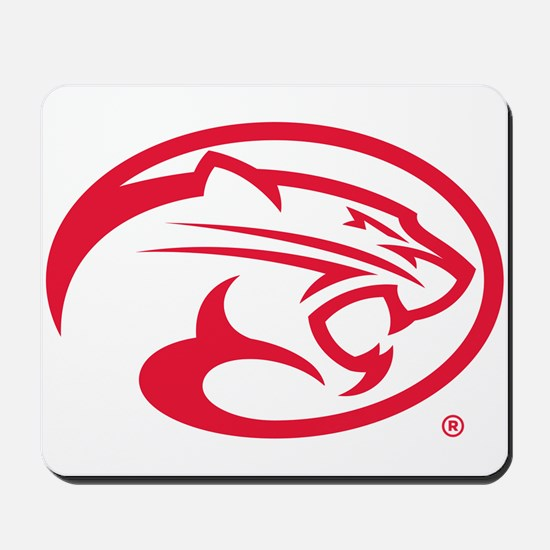 Houston Cougar Mascot Logo Mousepad