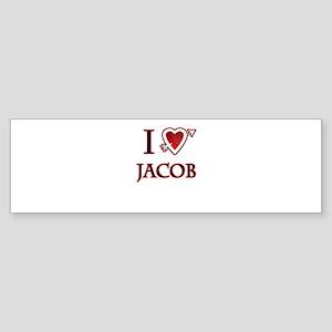 i love jacob heart Sticker (Bumper)