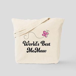 Worlds Best MeMaw Tote Bag