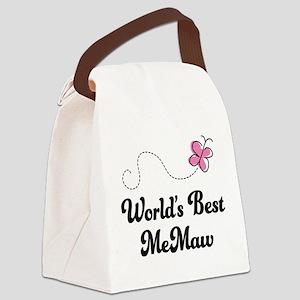 Worlds Best MeMaw Canvas Lunch Bag
