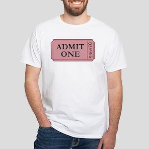 ADMIT ONE White T-Shirt