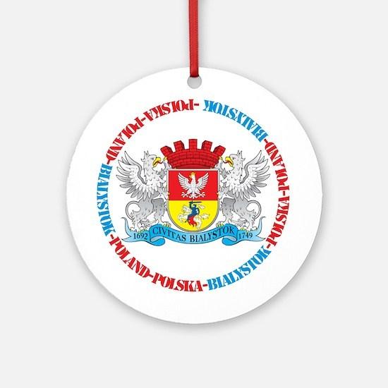 Polish Crest of Bialystok Ornament (Round)