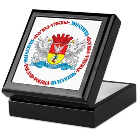 Polish Crest of Bialystok Keepsake Box