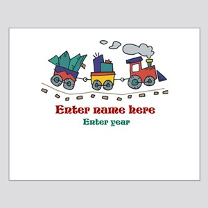 Personalized Christmas Train Small Poster