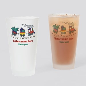 Personalized Christmas Train Drinking Glass