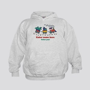 Personalized Christmas Train Kids Hoodie