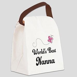 World's Best Nanna Canvas Lunch Bag