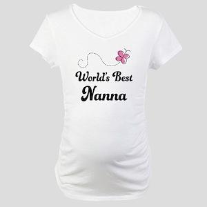 World's Best Nanna Maternity T-Shirt