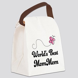 Worlds Best MomMom Canvas Lunch Bag
