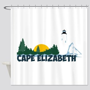 Cape Elizabeth ME - Beach Design. Shower Curtain