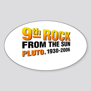 Pluto tshirts and gifts Oval Sticker