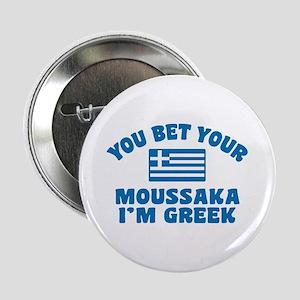 "Funny Greek Moussaka 2.25"" Button"