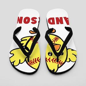 Personalized Softball Chick Flip Flops
