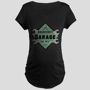 Personalized Garage Maternity Dark T-Shirt