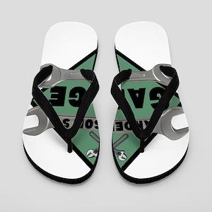 4fd8b5beae1993 Personalized Garage Flip Flops