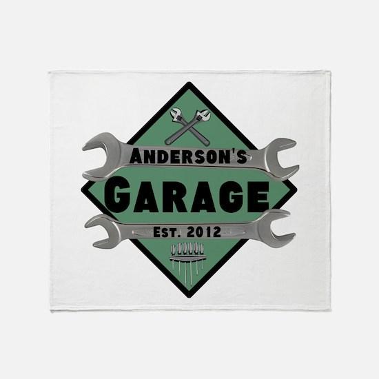 Personalized Garage Throw Blanket