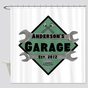 Personalized Garage Shower Curtain