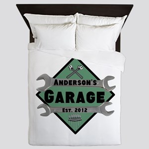 Personalized Garage Queen Duvet
