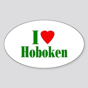 I Love Hoboken Oval Sticker