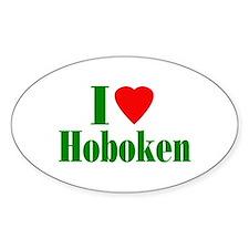 I Love Hoboken Oval Sticker