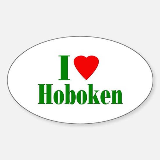 I Love Hoboken Oval Decal