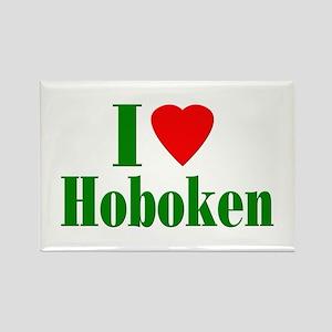 I Love Hoboken Rectangle Magnet (100 pack)