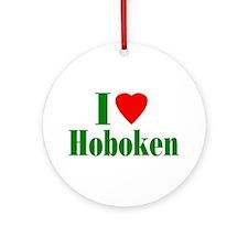 I Love Hoboken Ornament (Round)