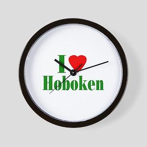 I Love Hoboken Wall Clock