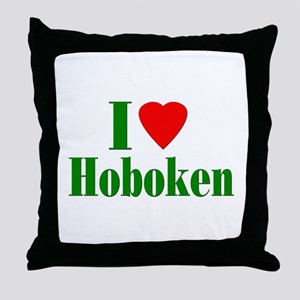 I Love Hoboken Throw Pillow