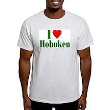 I Love Hoboken Ash Grey T-Shirt