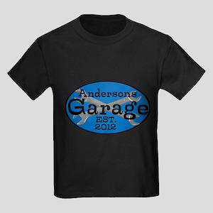 Personalized Garage Kids Dark T-Shirt