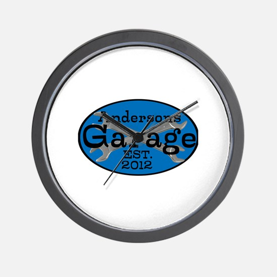Personalized Garage Wall Clock