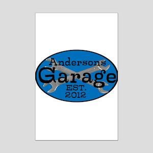 Personalized Garage Mini Poster Print