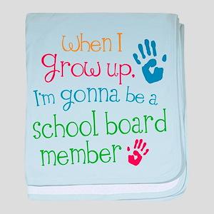 Future School Board Member baby blanket