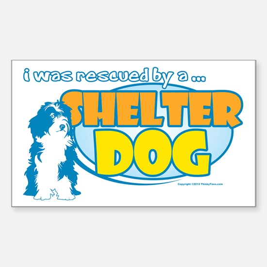 Rescued by Shelter Dog Sticker (Rectangle)