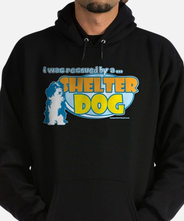 Rescued by Shelter Dog Hoodie (dark)