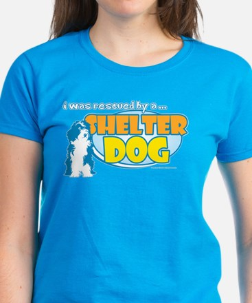Rescued by Shelter Dog Women's Dark T-Shirt