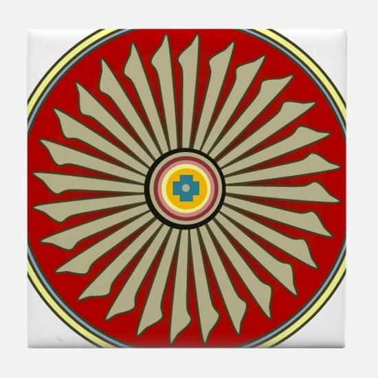 Native American Sun God 13 Tile Coaster