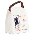 Veterans Memorial USA Canvas Lunch Bag