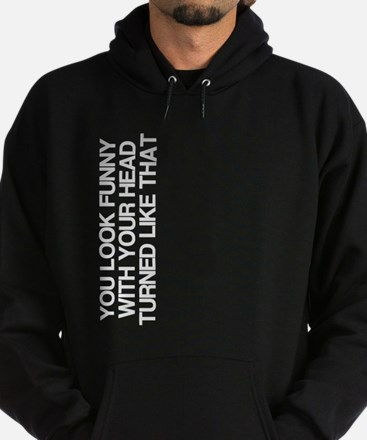 Funny, Head Turned, Hoodie (dark)