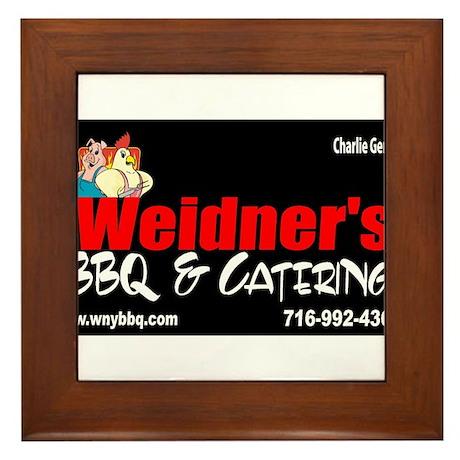 WEIDNER BBQ 3 Framed Tile