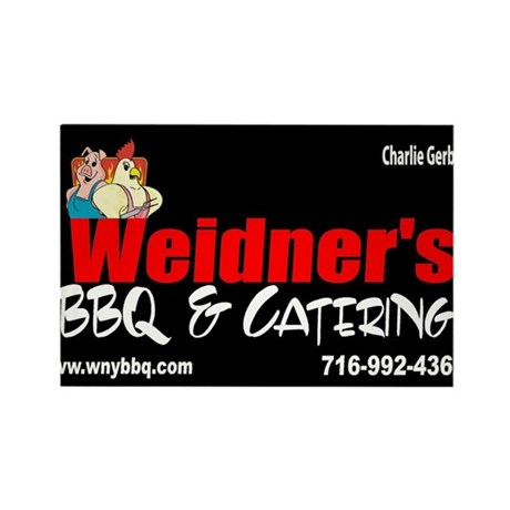 WEIDNER BBQ 3 Rectangle Magnet