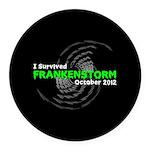 Frankenstorm Round Car Magnet
