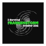 Frankenstorm Square Car Magnet 3