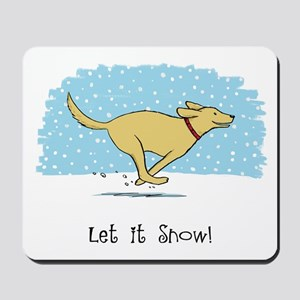Labrador Snow Holiday Mousepad