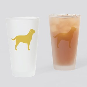 Yellow Lab Drinking Glass