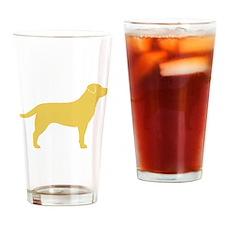 Yellow Lab Drinking Glass
